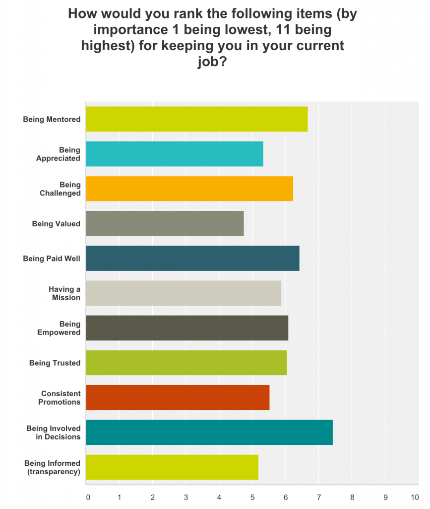 Survey Results - What keeps developer's happy in their job